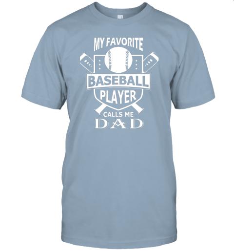 qovj mens my favorite baseball player calls me dad jersey t shirt 60 front light blue