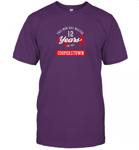 j9xo this mom has waited 12 years baseball sports cooperstown jersey t shirt 60 front team purple