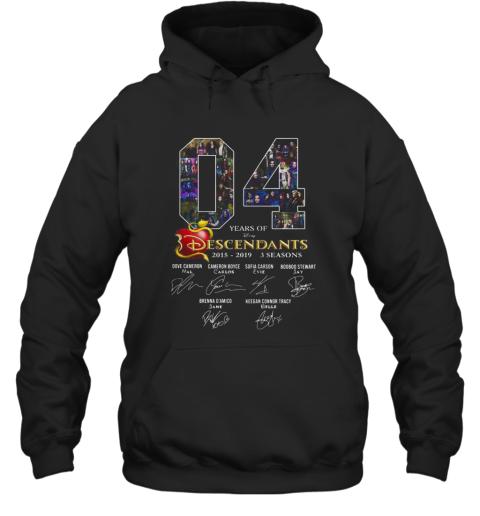 04 years of Descendants 2015 2019 3 seasons signature shirt Hoodie