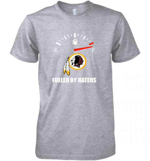 i7fh fueled by haters maximum fuel washington redskins premium guys tee 5 front heather grey
