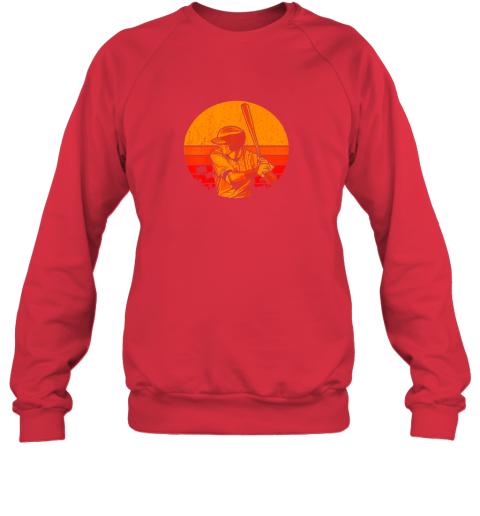 41fp vintage baseball shirt retro catcher pitcher batter boys sweatshirt 35 front red
