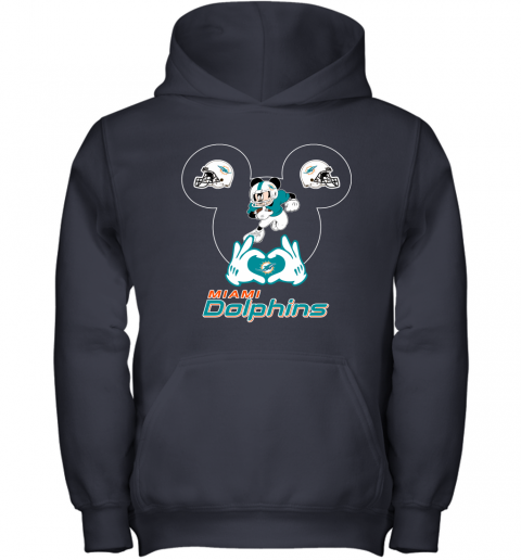 4szz i love the dolphins mickey mouse miami dolphins youth hoodie 43 front navy