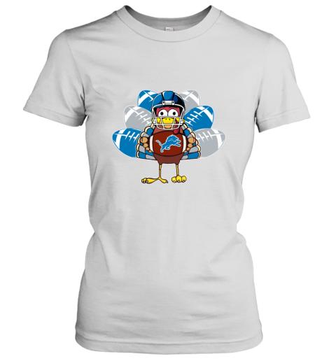 Detroit Lions  Thanksgiving Turkey Football NFL Women's T-Shirt