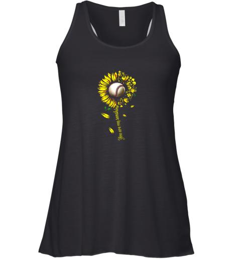 You Are My Sunshine Sunflower Baseball Racerback Tank