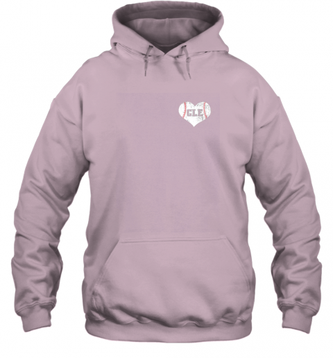 ulfw vintage cleveland baseball sweatshirt ohio cle hoodie 23 front light pink