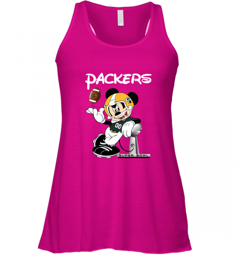 v02q mickey packers taking the super bowl trophy football flowy tank 32 front neon pink