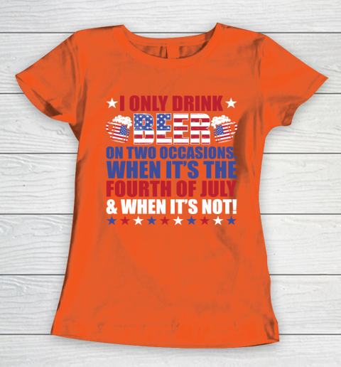 Beer Lover Funny Shirt Beer Fourth Of July Women's T-Shirt 3