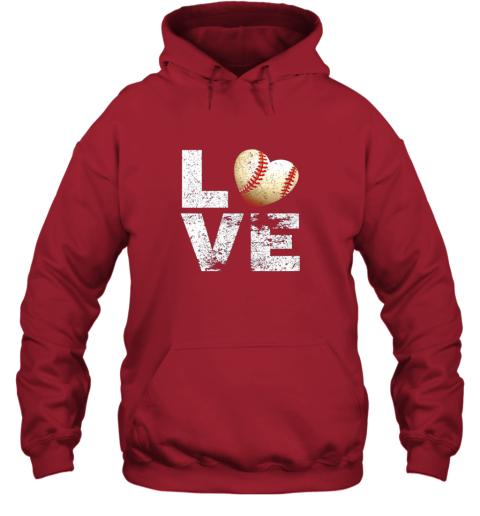 znls i love baseball funny gift for baseball fans lovers hoodie 23 front red