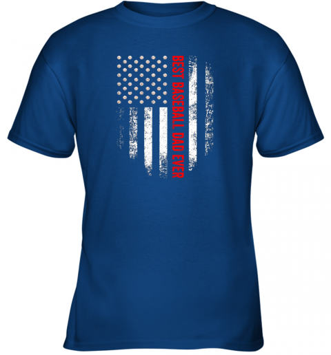 sjsb vintage usa best baseball dad ever american flag daddy gift youth t shirt 26 front royal