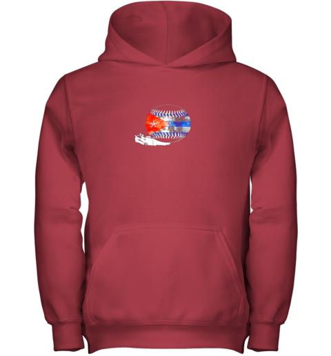 7fzn vintage baseball cuba flag shirt cuban pride youth hoodie 43 front red