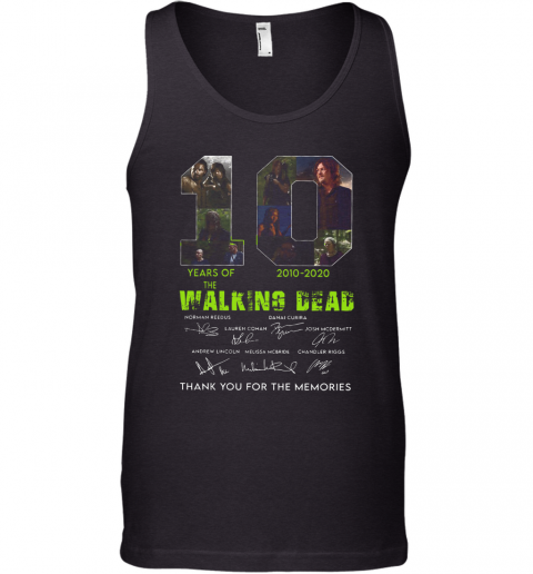 10 Years Of The Walking Dead 2010 2020 Anniversary Tank Top