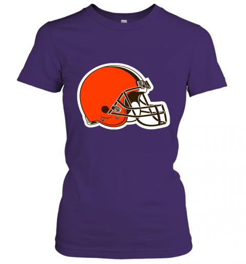 8oqz cleveland browns nfl pro line by fanatics branded brown victory ladies t shirt 20 front purple