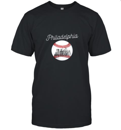 Philadelphia Baseball Philly Tshirt Ball and Skyline Design Unisex Jersey Tee
