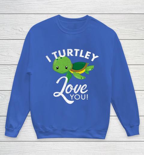 Cute Valentines Turtle I Turtley Love You Valentine Gift Youth Sweatshirt 6