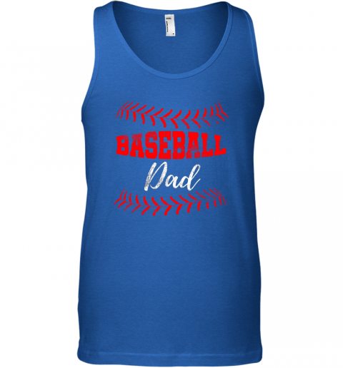 wzjs mens baseball inspired dad fathers day unisex tank 17 front royal