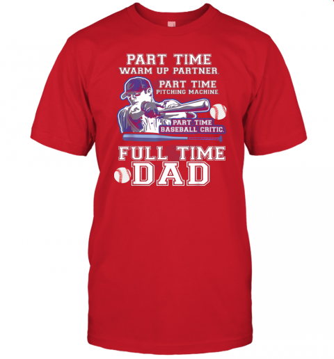 dyxw mens part time warm up partner pitching machine baseball dad jersey t shirt 60 front red