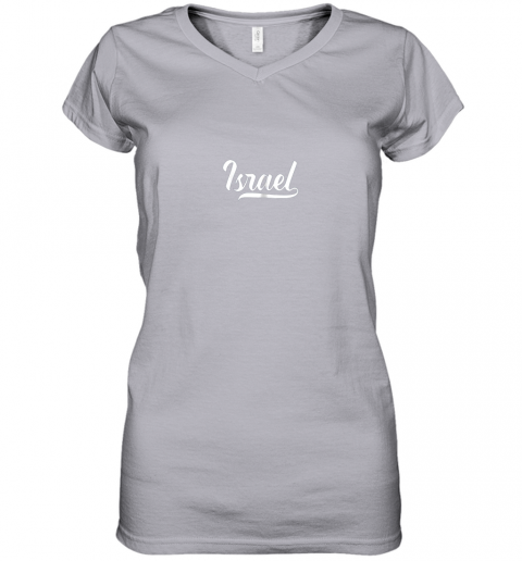 ku0v israel baseball national team fan cool jewish sport women v neck t shirt 39 front sport grey