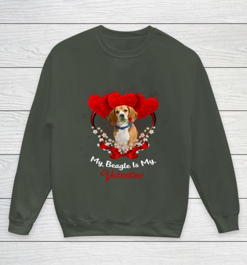 My Beagle is My Valentine Day 2019 Dog Youth Sweatshirt 8