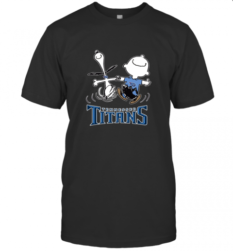 Snoopy And Charlie Brown Happy Tennessee Titans T-Shirt