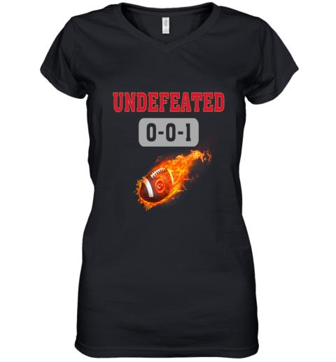 NFL KANSAS CITY CHIEFS LOGO Undefeated Women's V-Neck T-Shirt