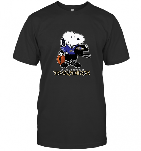 Snoopy A Strong And Proud Baltimore Ravens NFL T-Shirt