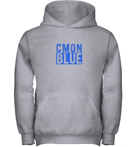 pkm7 cmon blue umpire baseball fan graphic lover gift youth hoodie 43 front sport grey