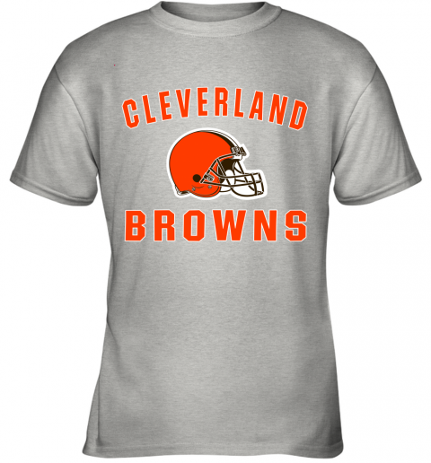ab4y cleveland browns nfl line by fanatics branded brown victory youth t shirt 26 front ash