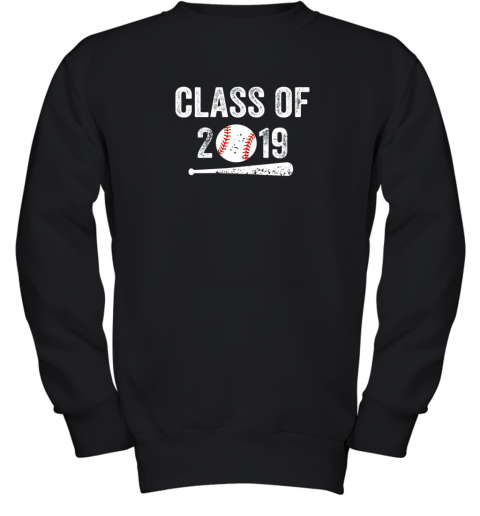 Class of 2019 Vintage Shirt Graduation Baseball Gift Senior Youth Sweatshirt