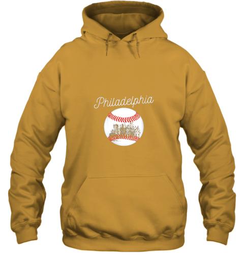 avzu philadelphia baseball philly tshirt ball and skyline design hoodie 23 front gold