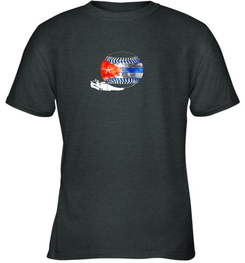 6nwl vintage baseball cuba flag shirt cuban pride youth t shirt 26 front dark heather