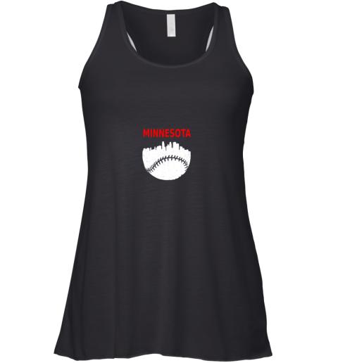 Retro Minnesota Baseball Minneapolis Cityscape Vintage Shirt Racerback Tank