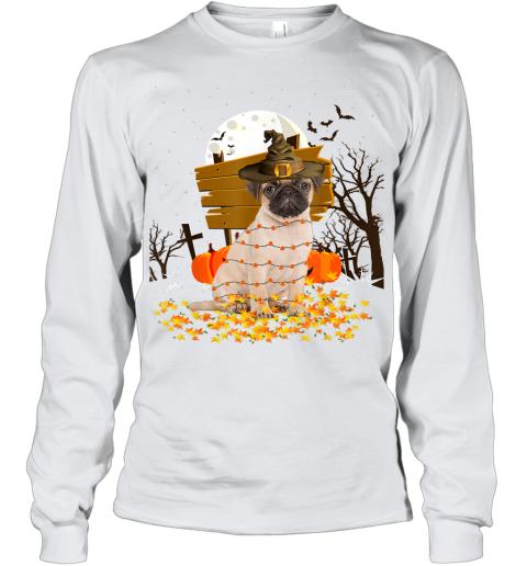 My Pug Pumpkins Halloween Dog Gift Youth Long Sleeve