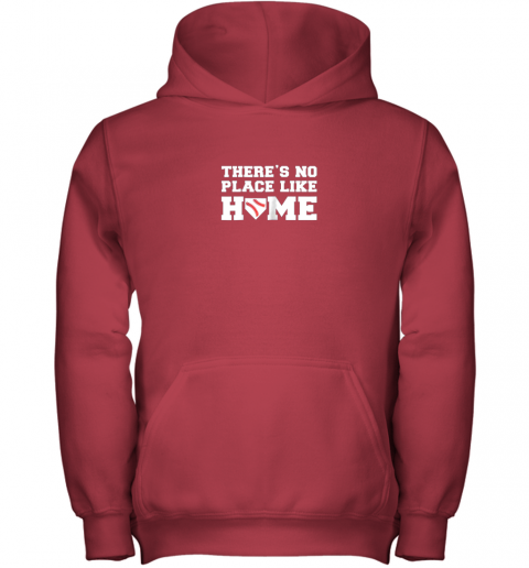 9ow7 there39 s no place like home baseball shirt kids baseball tee youth hoodie 43 front red