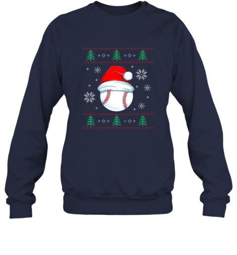 wxru ugly christmas baseball shirt boys kids ball santa pajama sweatshirt 35 front navy