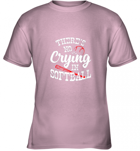 znbo theres no crying in softball game sports baseball lover youth t shirt 26 front light pink