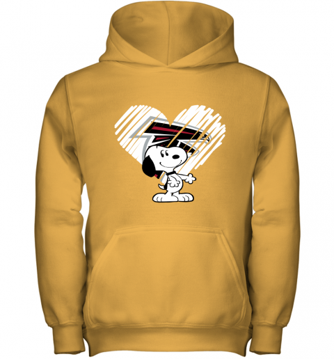 r96b a happy christmas with atlanta falcons snoopy youth hoodie 43 front gold