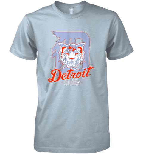 wwys tiger mascot distressed detroit baseball t shirt new premium guys tee 5 front light blue