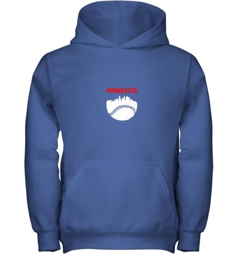 2rn7 retro minnesota baseball minneapolis cityscape vintage shirt youth hoodie 43 front royal