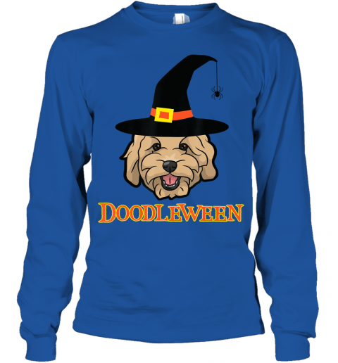 Goldendoodle Halloween - Spooky Golden Doodle Dog Gift Youth Long Sleeve