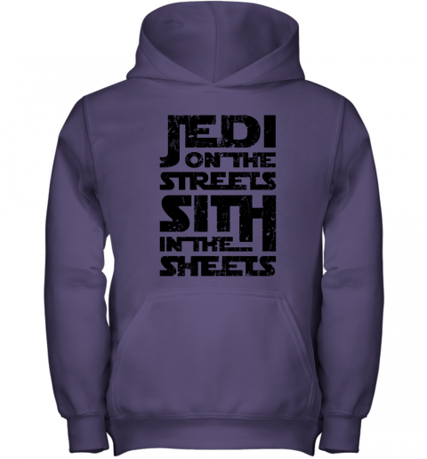 eycr jedi on the streets sith in the sheets star wars shirts youth hoodie 43 front purple