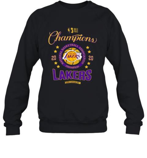 NBA Finals Champions National Basketball Association Los Angeles Lakers 2020 Sweatshirt