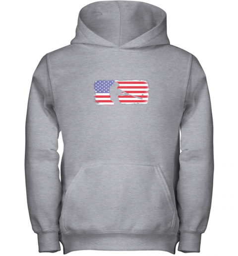 s6qo usa american flag baseball player perfect gift youth hoodie 43 front sport grey