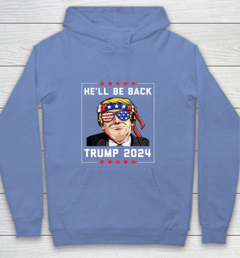 Hell Be Back Trump 2024 Youth Hoodie 8