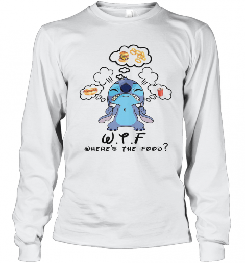 Disney Stitch Wtf Where'S The Food Long Sleeve T-Shirt