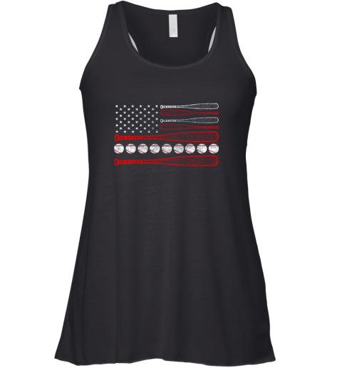 Vintage American Flag Baseball 4th July Racerback Tank