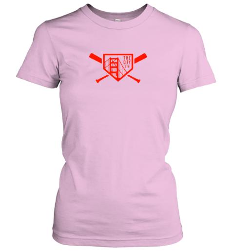 lslg cool san francisco baseball the city bridge sfo ladies t shirt 20 front light pink