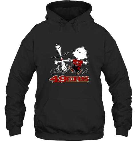 Snoopy And Charlie Brown Happy San Francisco 49ers Hoodie