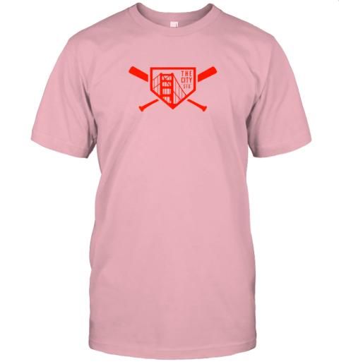 yuvv cool san francisco baseball the city bridge sfo jersey t shirt 60 front pink