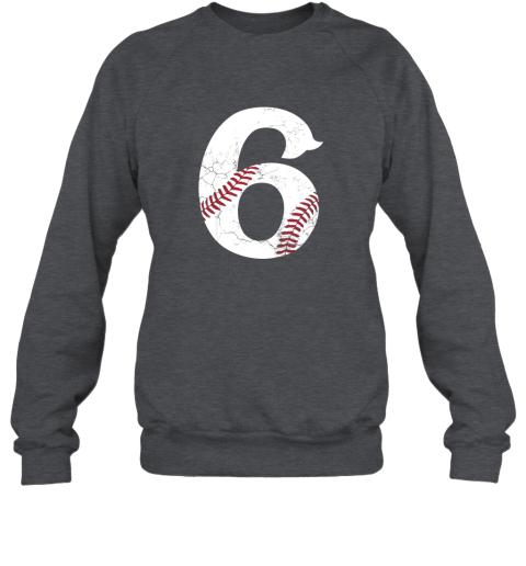 3lul kids happy birthday 6th 6 year old baseball gift boys girls 2013 sweatshirt 35 front dark heather