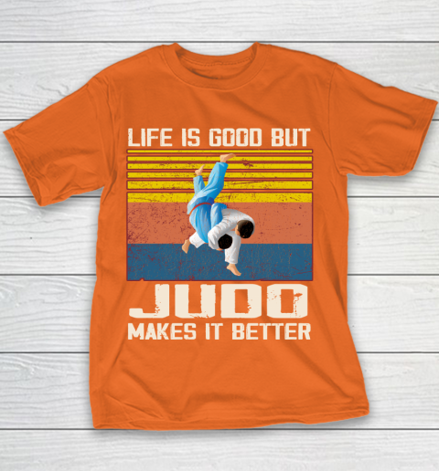 Life is good but Judo makes it better Youth T-Shirt 4